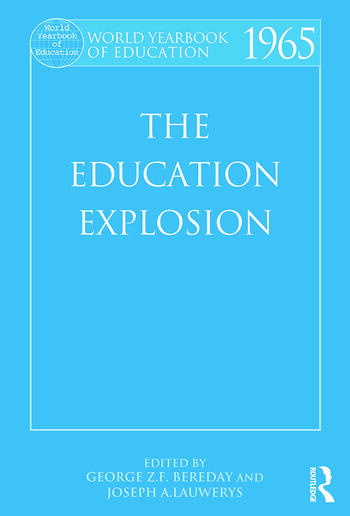 World Yearbook of Education 1965 The Education Explosion book cover