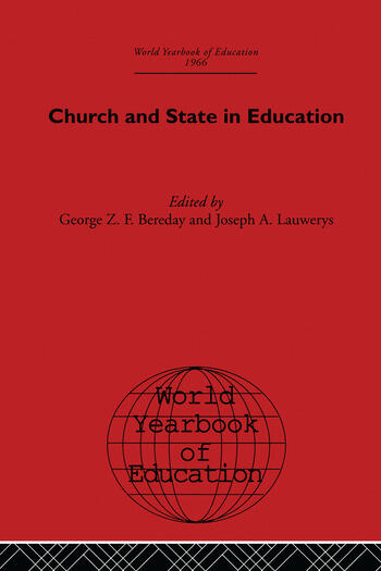 World Yearbook of Education 1966 Church and State in Education book cover