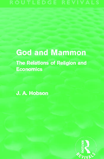 God and Mammon (Routledge Revivals) The Relations of Religion and Economics book cover