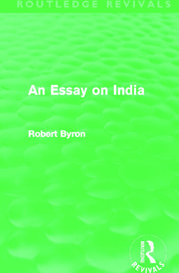 An Essay on India (Routledge Revivals) book cover