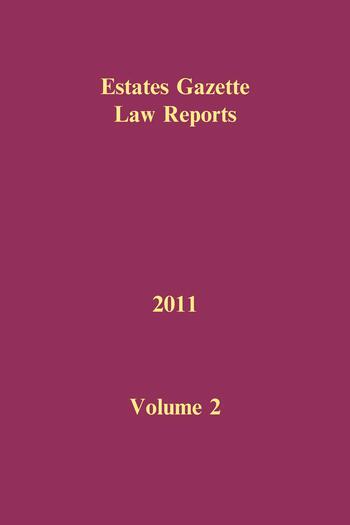 EGLR 2011 Volume 2 book cover