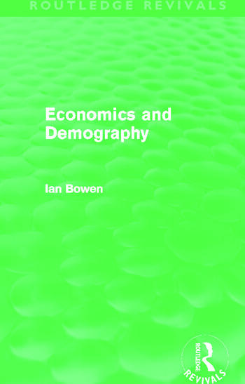 Economics and Demography (Routledge Revivals) book cover