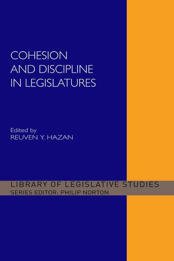 Cohesion and Discipline in Legislatures book cover