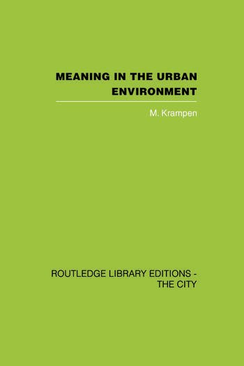 Meaning in the Urban Environment book cover