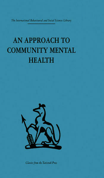 An Approach to Community Mental Health book cover