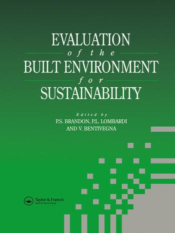 Evaluation of the Built Environment for Sustainability book cover