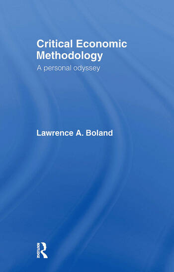 Critical Economic Methodology A Personal Odyssey book cover