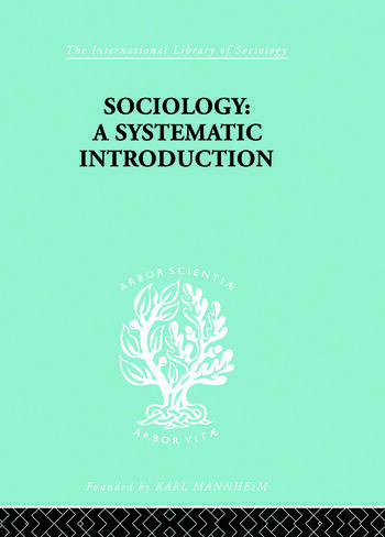 Sociology A Systematic Introduction book cover
