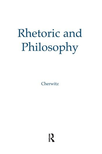 Rhetoric and Philosophy book cover
