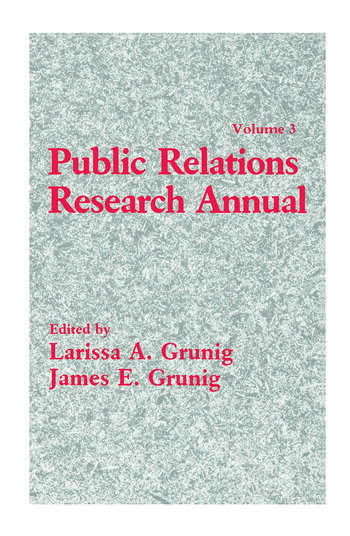 Public Relations Research Annual Volume 3 book cover