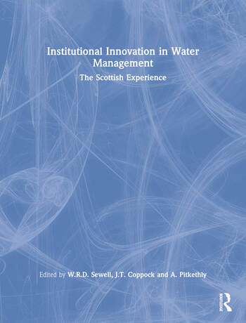Institutional Innovation in Water Management The Scottish Experience book cover