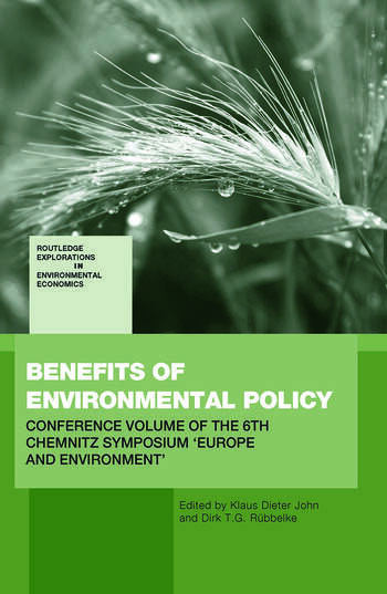 Benefits of Environmental Policy Conference Volume of the 6th Chemnitz Symposium 'Europe and Environment' book cover
