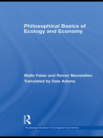Philosophical Basics of Ecology and Economy book cover