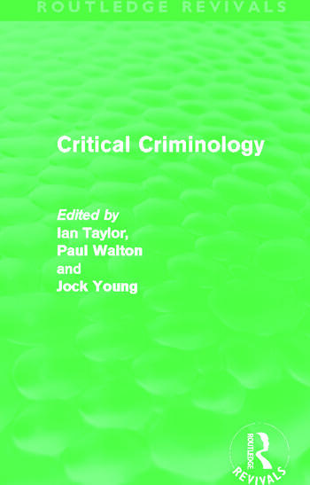 Critical Criminology (Routledge Revivals) book cover