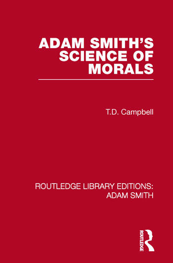 Adam Smith's Science of Morals book cover