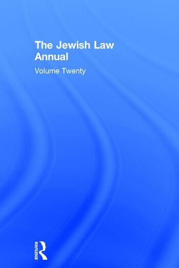 Jewish Law Annual Volume 20 book cover