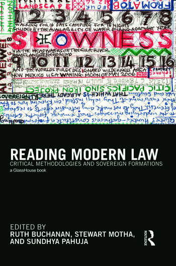 Reading Modern Law Critical Methodologies and Sovereign Formations book cover