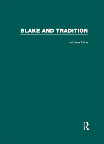 Blake and Tradition book cover