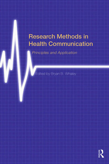Research Methods in Health Communication Principles and Application book cover