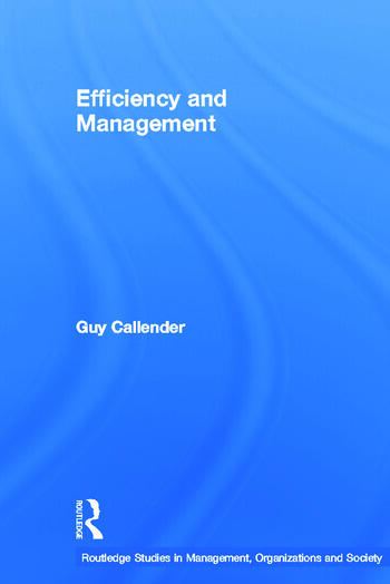 Efficiency and Management book cover