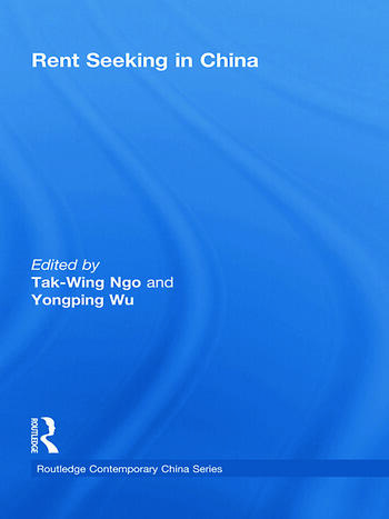 Rent Seeking in China book cover