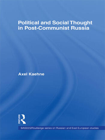 Political and Social Thought in Post-Communist Russia book cover