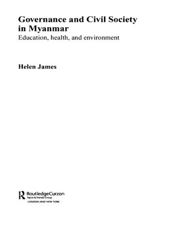 Governance and Civil Society in Myanmar Education, Health and Environment book cover