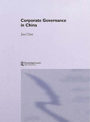 Corporate Governance in China book cover