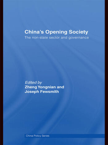 China's Opening Society The Non-State Sector and Governance book cover