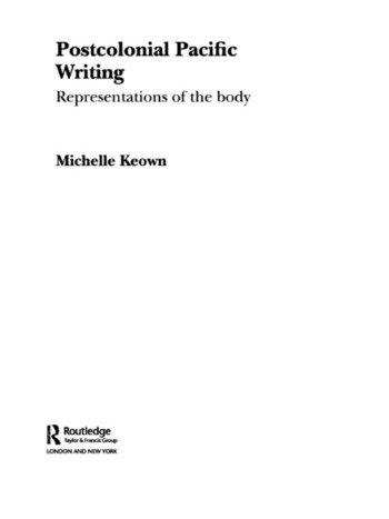 Postcolonial Pacific Writing Representations of the Body book cover