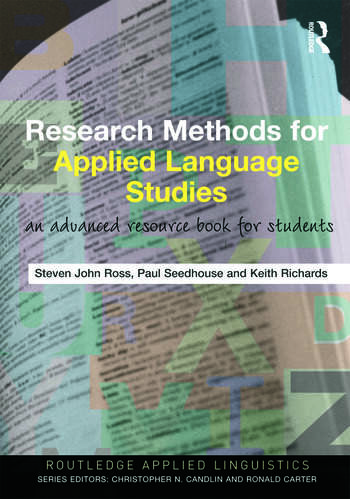 Research Methods for Applied Language Studies An Advanced Resource Book for Students book cover