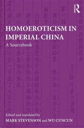 Homoeroticism in Imperial China A Sourcebook book cover