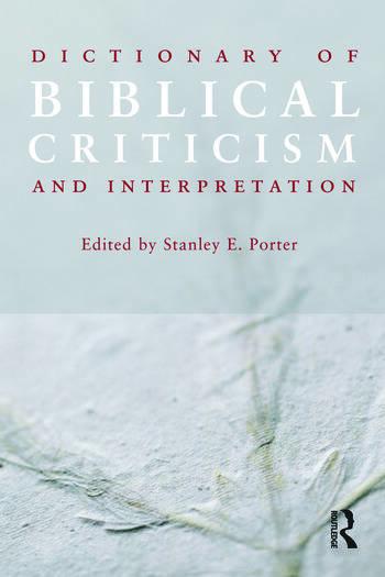 Dictionary of Biblical Criticism and Interpretation book cover