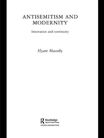 Antisemitism and Modernity Innovation and Continuity book cover