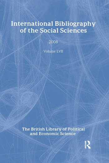 IBSS: Political Science: 2008 Vol.57 International Bibliography of the Social Sciences book cover