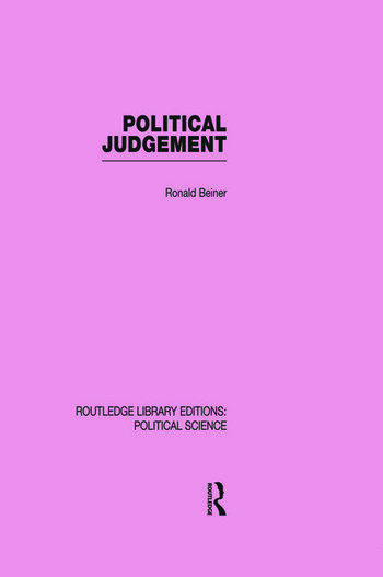 Political Judgement (Routledge Library Editions: Political Science Volume 20) book cover