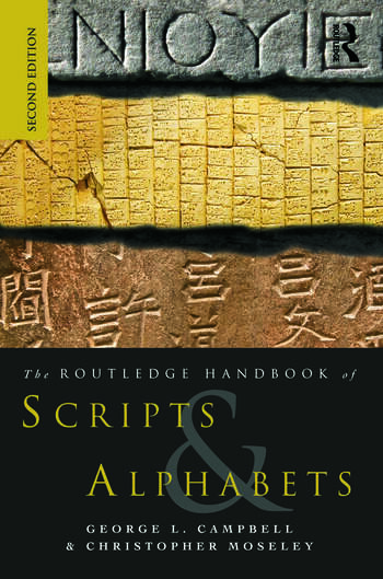 The Routledge Handbook of Scripts and Alphabets book cover