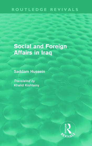 Social and Foreign Affairs in Iraq (Routledge Revivals) book cover