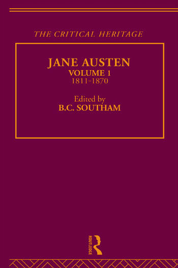 Jane Austen The Critical Heritage Volume 1 1811-1870 book cover