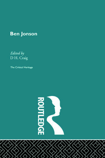 Ben Jonson The Critical Heritage book cover