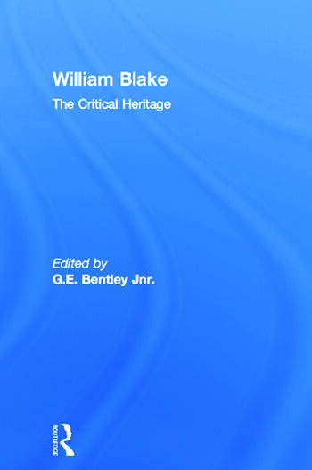 William Blake The Critical Heritage book cover