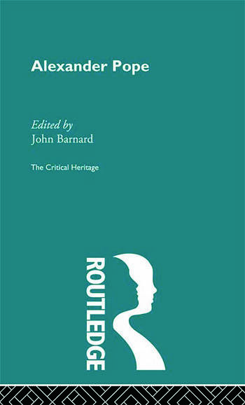 Alexander Pope The Critical Heritage book cover