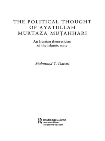 The Political Thought of Ayatollah Murtaza Mutahhari An Iranian Theoretician of the Islamic State book cover