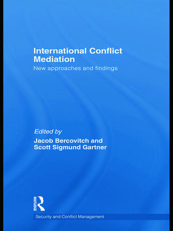 International Conflict Mediation New Approaches and Findings book cover