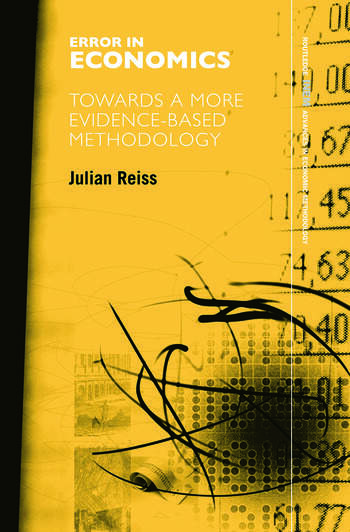 Error in Economics Towards a More Evidence–Based Methodology book cover