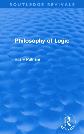 Philosophy of Logic (Routledge Revivals) book cover