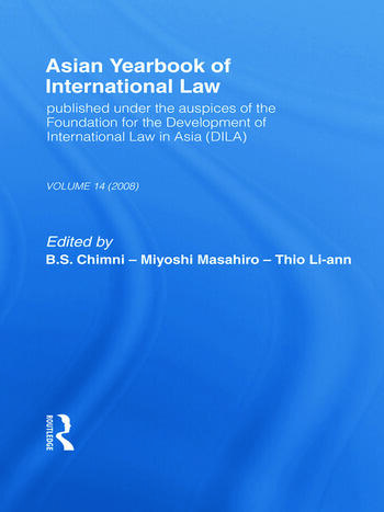 Asian Yearbook of International Law Volume 14 (2008) book cover