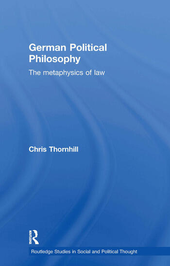 German Political Philosophy The Metaphysics of Law book cover
