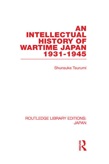 An Intellectual History of Wartime Japan 1931-1945 book cover