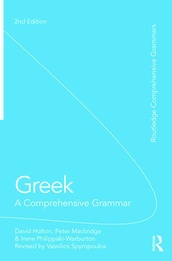 Greek: A Comprehensive Grammar of the Modern Language book cover